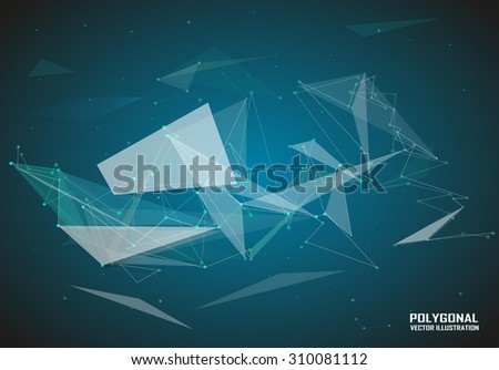 Abstract composition, space icon, star light, magic sequence, cosmic techno image, galaxy theme, modern wallpaper background, lines, triangles, headpiece, screen saver, EPS 10 vector illustration