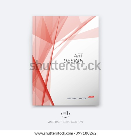 Abstract composition, transparent font texture, triangle section surface, pastel, red  lines construction, brochure title sheet, creative figure vector art, commercial offer, banner form, flyer fiber - stock vector