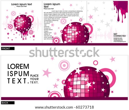 Abstract composition Vector Background ,vector illustration - stock vector