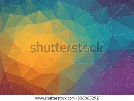 abstract composition with triangle shapes for your web design  - stock vector