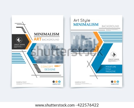 Abstract composition. Yellow, blue, triangular texture. Black dots, lines, part construction. White brochure title sheet. Header. Creative figure icon surface. Triangle section banner form. Flyer font - stock vector
