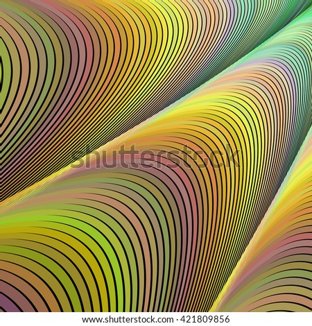 Abstract computer generated vector fractal design background - stock vector