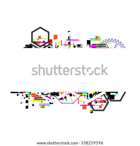 abstract computer technology background, vector illustration - stock vector