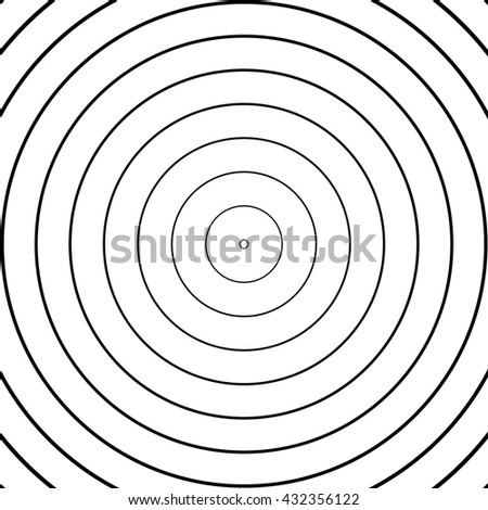Abstract concentric circles pattern - stock vector