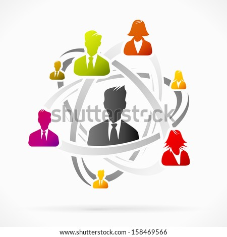 Abstract concept about business network team vector illustration  - stock vector