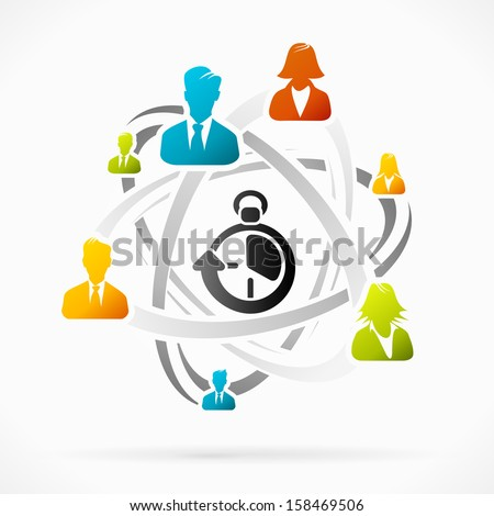Abstract concept about business rush people vector illustration  - stock vector