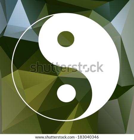 Abstract concept vector icon of Yin Yang
