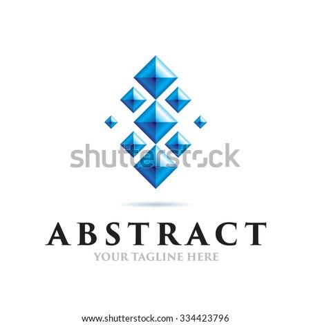 Abstract Connect Icon Vector Logo Template - stock vector