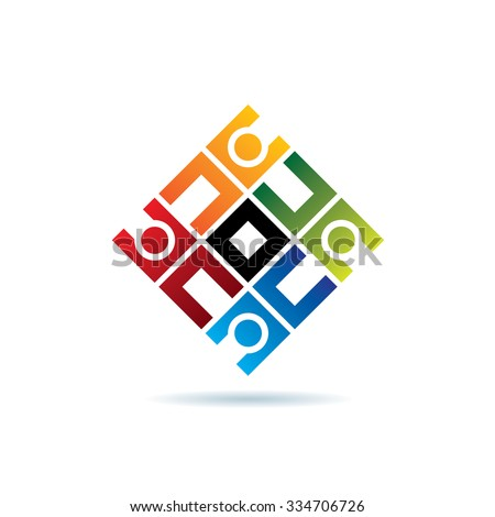 Abstract Connect Icon Vector Logo Template