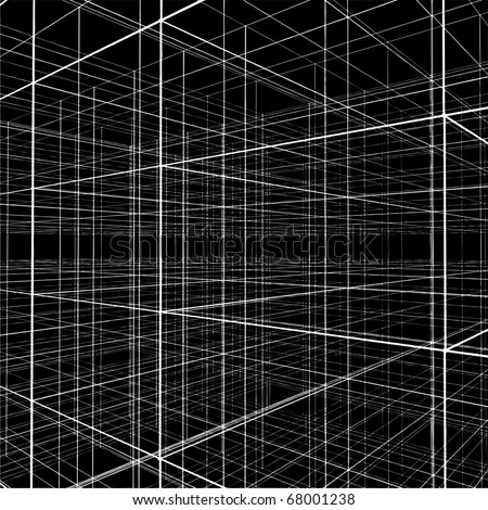 Abstract Construction Of Wire Vector 216 - stock vector