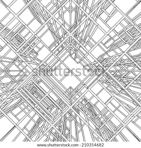 Abstract Construction Structure Vector 288 - stock vector