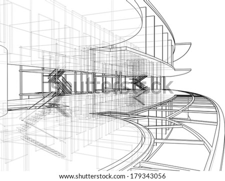 Abstract Constructions Of Line Vector 276 - stock vector