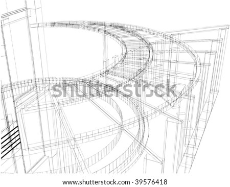 Abstract Constructions Of Line Vector 26 - stock vector