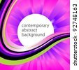 Abstract contemporary background with place for text. Vector. - stock vector