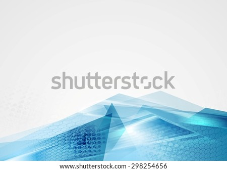 Abstract corporate blue modern background. Vector design - stock vector