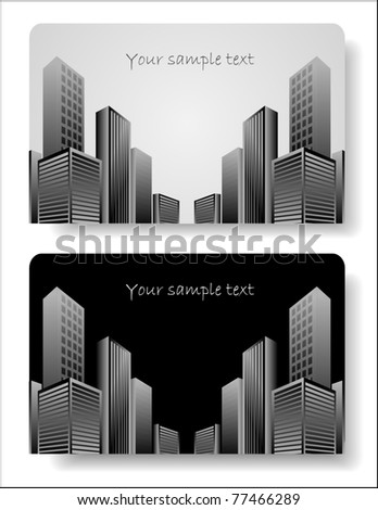 abstract corporate city buildings - stock vector