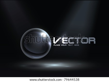 Abstract Corporate Design with Glass Sphere - stock vector
