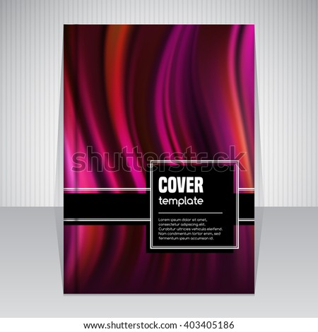 Abstract cover template for brochure or book in A4 size. Vector illustration - stock vector