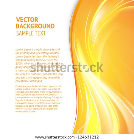 Abstract cover with smooth lines. Vector background, eps 10, contains transparencies. - stock vector