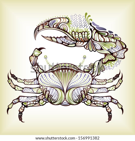 Abstract Crab - stock vector