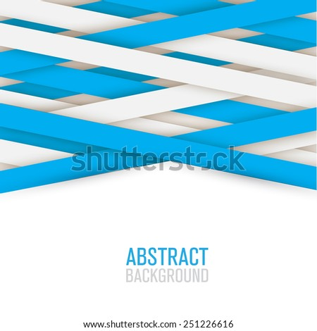 abstract creative and shadow paper lines - stock vector