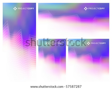 Abstract Creative Background Template Set or Web Banner Set