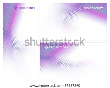 Abstract Creative Background Template Set or Web Banner Set - stock vector