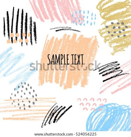 Abstract Creative Background Hand Drawn Textures Vector de ...