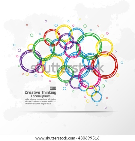 Abstract creative brain graphic - stock vector