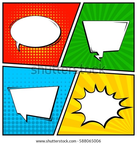 Comic Template Vector Stock Vector 160269506 - Shutterstock