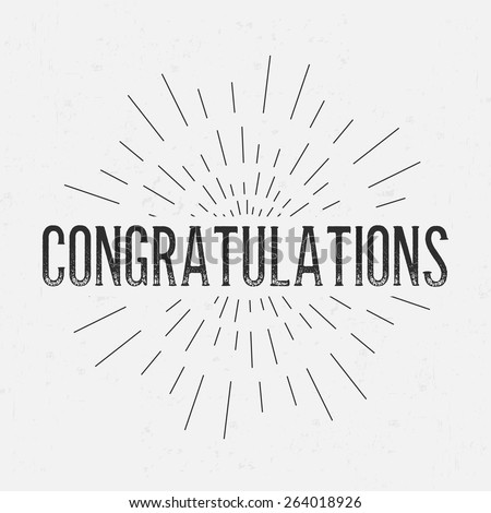 Congratulations stock images royalty free images vectors abstract creative concept vector design layout with text congratulations for web and mobile icon pronofoot35fo Image collections