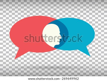 Abstract Creative concept vector empty speech bubbles set. For web, mobile applications isolated on background, art illustration template design, presentation, business infographic and social media. - stock vector
