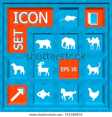 Abstract Creative concept vector Flat Icon Set for Web and Mobile Applications - stock vector