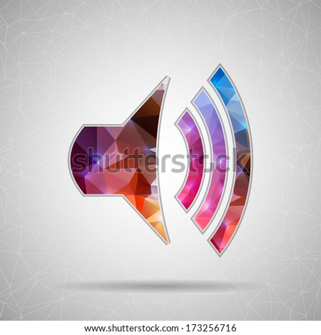 Abstract Creative concept vector icon icon volume for Web and Mobile Applications isolated on background. Vector illustration template design, Business infographic and social media, origami icons. - stock vector