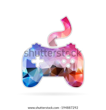 Abstract Creative concept vector icon of controller for Web and Mobile Applications isolated on background. Vector illustration template design, Business infographic and social media, origami icons. - stock vector