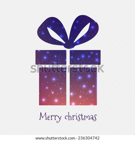 Abstract Creative concept vector icon of gift box for Web and Mobile Applications isolated on background.  Art illustration template design, Business infographic and social media, silhouette origami. - stock vector
