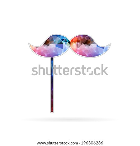 Abstract Creative concept vector icon of mustache - stock vector