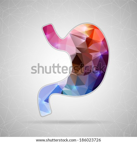 Abstract Creative concept vector icon of stomach  - stock vector