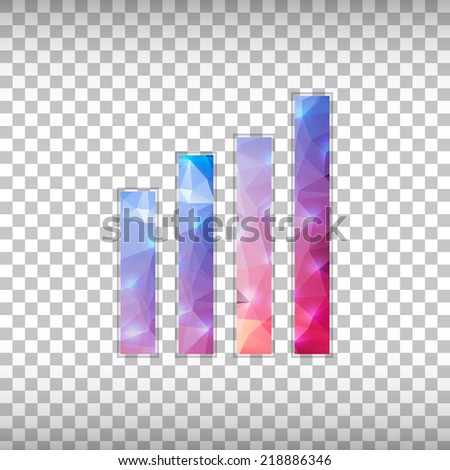 Abstract Creative concept vector icon of wireless for Web and Mobile Applications isolated on background. Vector illustration template design, Business infographic and social media, origami icons. - stock vector