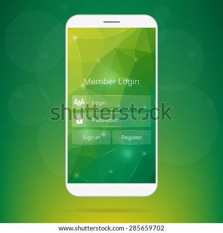 Abstract creative concept vector member login form interface. For web page, site, mobile applications, art illustration, design theme, modern menu, ui, app, contact empty box, banner, profil log in - stock vector