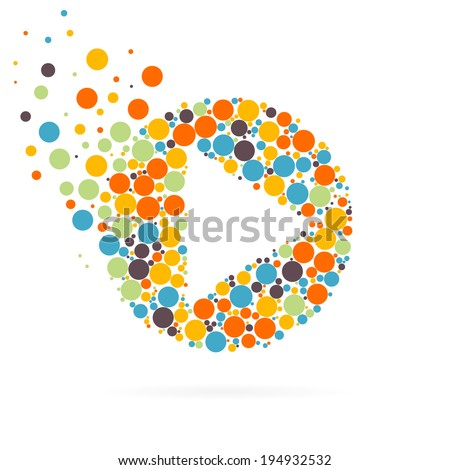 Abstract Creative concept vector play icon for Web and Mobile Applications isolated on background. Vector illustration template design, Business infographic and social media icons. - stock vector