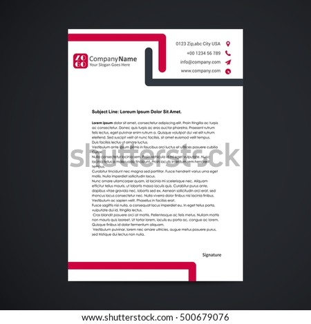 cool letterhead design