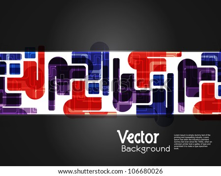 Abstract creative modern designed background with black banner. vector illustration