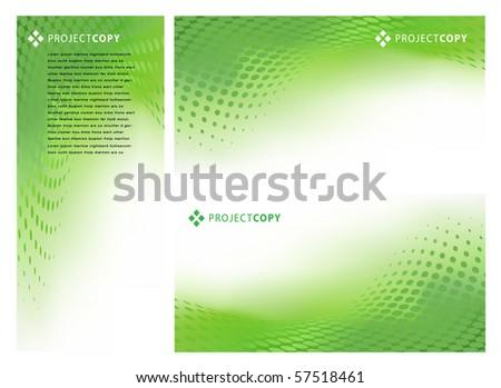 Abstract Creative Vector Background Set - stock vector