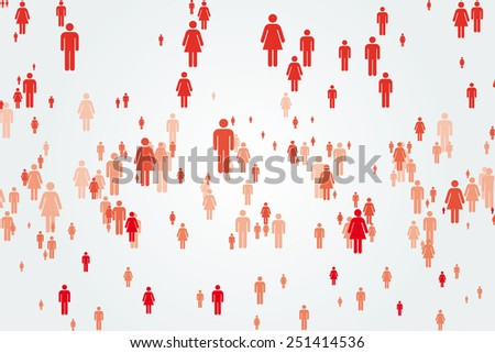 Abstract crowd  - stock vector