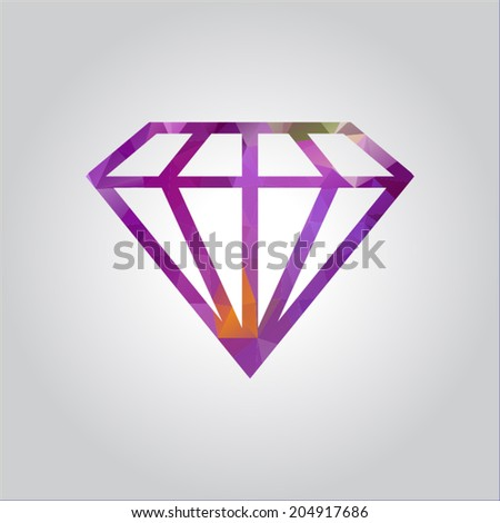 abstract crystal icon; vector illustration.