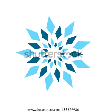 Abstract crystal sign Branding Identity Corporate vector logo design template Isolated on a white background - stock vector
