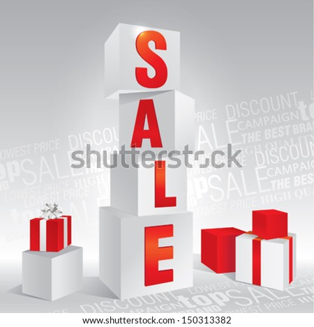 abstract cube for sale - stock vector