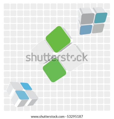 Abstract cubes - stock vector