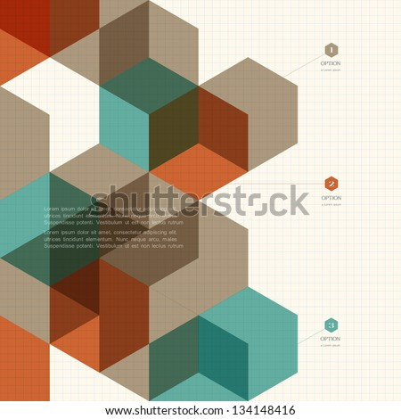 Abstract cubes background for design. Vector EPS10 - stock vector